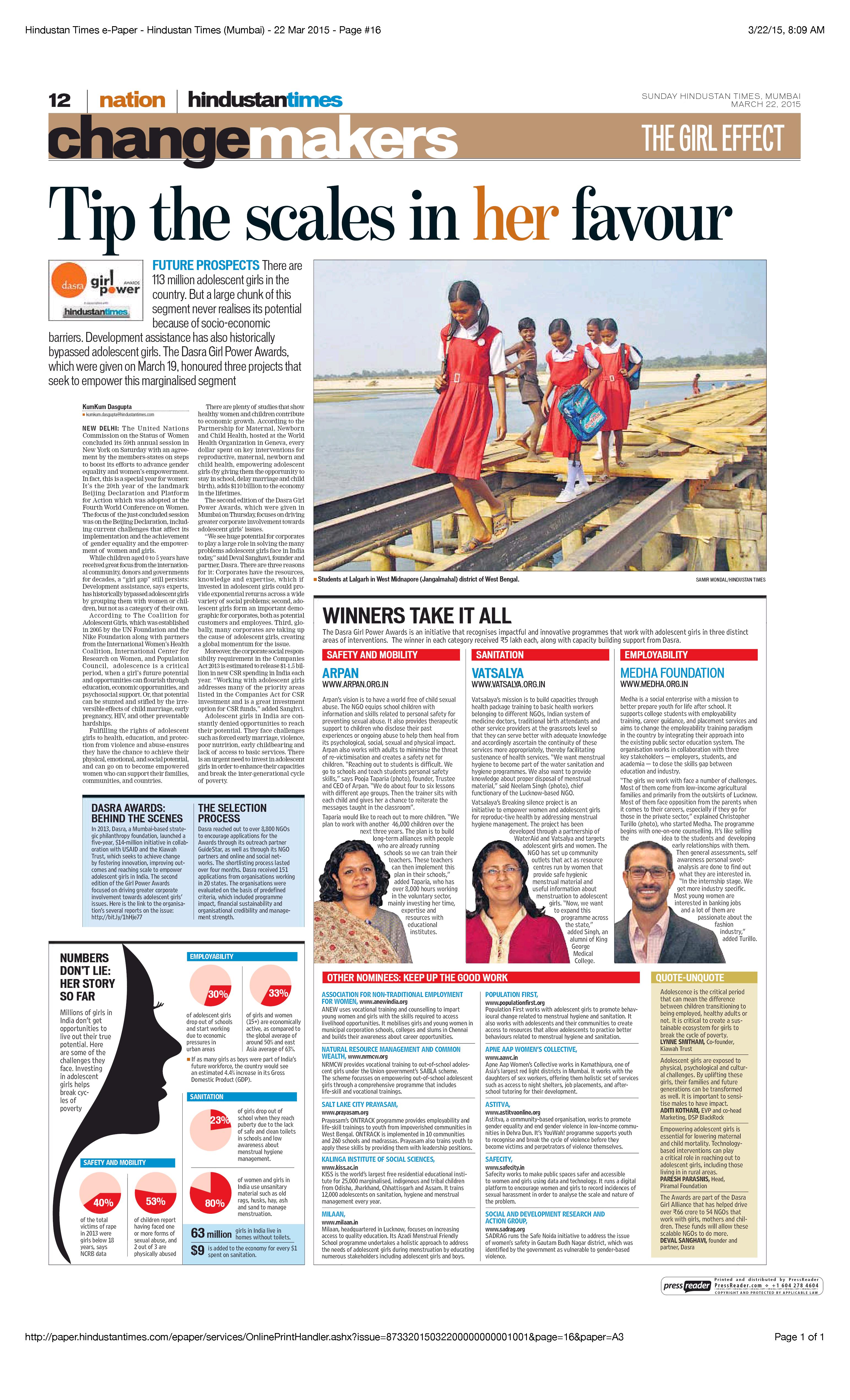 Hindustan Times e-Paper - Hindustan Times (Mumbai) - 22 Mar 2015 - Page #16