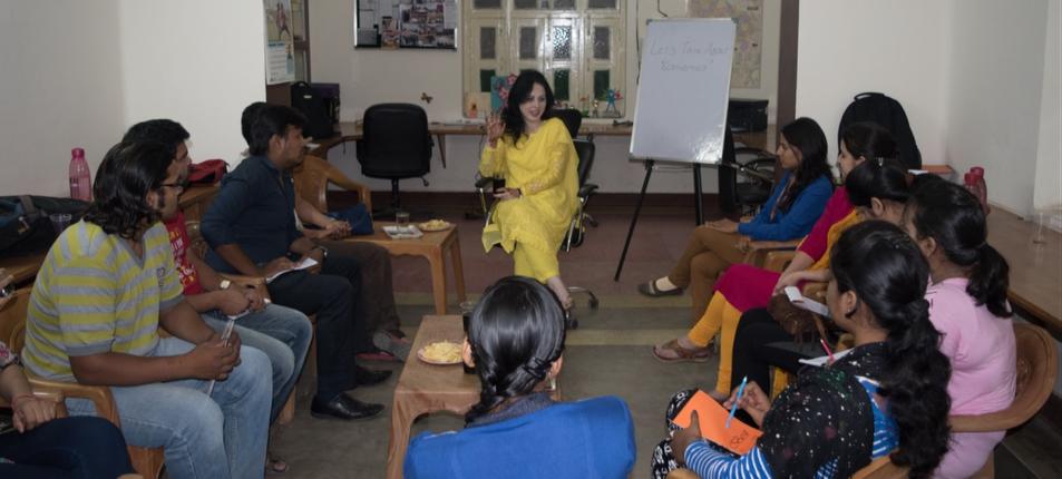 Assistant Professor, Dr. Munila Naqvi speaks with Medha Alumni