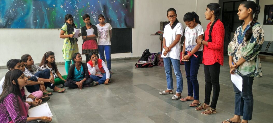 First batch of students from Prerna Girls School